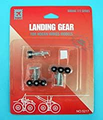Landing gear set includes front and main landing gear with rubber tyres Designed for permanent installation on Hogan Wings model aircraft. Glue ir required to complete the installation.(not included) Not suitable for Skymarks Model Airplanes