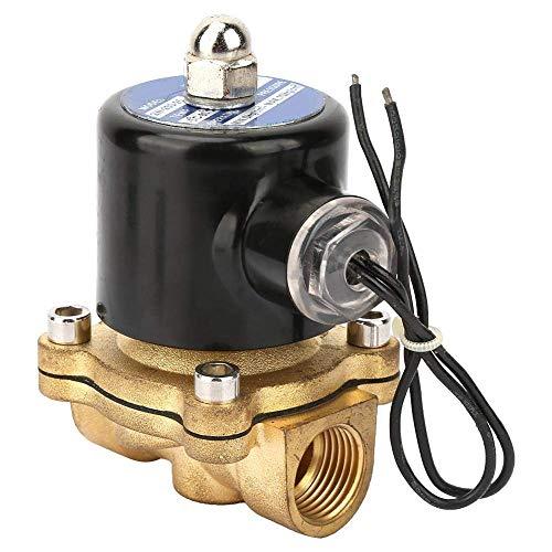 WHEEJE Válvula solenoide eléctrica, controlador de líquido magnético electromagnético normalmente cerrado de latón DN25 para sistema de transmisión neumática DC24V