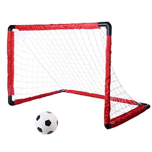 IT IF IT But de Football Enfant pour Le Jardin Cage de Foot Portable avec Filet, 84 * 60 * 60cm