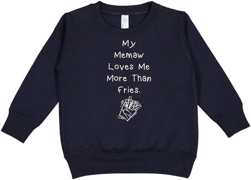 Toddler//Kids Sweatshirt My Memaw Loves Me More Than Fries