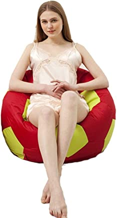 AEURX Cozy Bean Bag Chairs For Children Football  Color Red