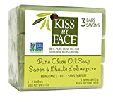 Kiss My Face Naked Pure Olive Oil bar Soap, 4oz Bars, 3Count,, ()