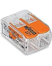 20 x Wago kompakta anslutningsklämmor med drivspak, 2-vägs, 221-412, spakklämma, boxklämma