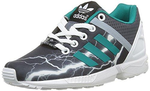 adidas Unisex-Kinder Zx Flux Split K Sneakers, Schwarz (Onix/Equity Green/Footwear WhiteOnix/Equity Green/Footwear White), 36 EU