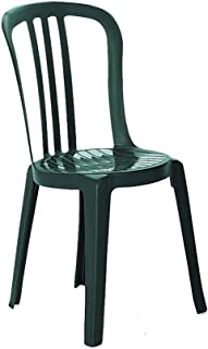 Grosfillex US495078 Miami Bistro Stacking Side Chair, Amazon Green (Case of 4)