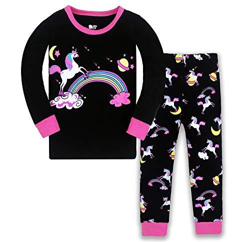 LitBud Kleinkind Mädchen Eule Weihnachten Schlafanzüge Nachtwäsche 2pcs Lange Ärmel Tops + Hosen Sets für Kinder Größe 3-4 Jahre 4T das Erntedankfest Geschenk
