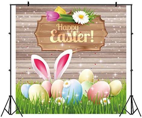 OFILA Happy Easter Photography Backdrop 9x6ft Easter Eggs Photography Background Springtime Easter Photos Holidays Easter Background Easter Video Studio Props