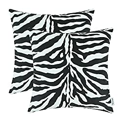 Cozy pillows with zebra pattern.