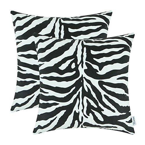 CaliTime Cozy Fleece Throw Pillow Covers for Couch Bed Sofa