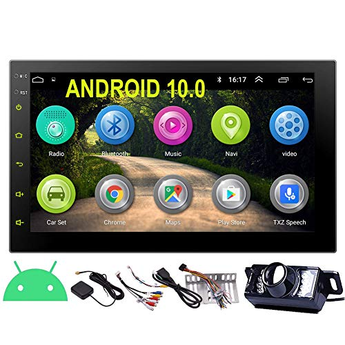 EINCAR 7 Inch Android 10.0 Car Stereo with GPS Navigation Double Din Car Radio Bluetooth Stereo Radio Receiver 2Din Headunit with Backup Camera Support WiFi Mirror Link for Smart Phone USB Input