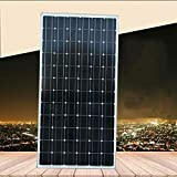 ZSPSHOP Nuevo Pie De Azulejo De 200 W De Un Solo Panel De Cristal Fotovoltaico Conjunto De Panel De Energía Solar Se Puede Cargar Batería De 12V24V Voltios,200W18V
