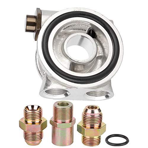 Adaptador de sandwich de filtro de aceite, accesorios AN10 Enfriador de aceite Adaptador de termostato de placa de sandwich Adaptador de filtro de aceite 3/4-16 UNF