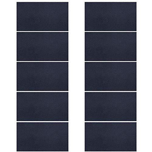 レザーシール 黒貼るレザー 補修 貼るレザー 修理用シート 家具 ソファ シート 財布 バッグ 修理用 10枚セット 10cm*20cm