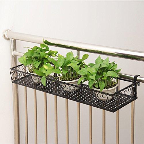 HR zwarte muur opknoping bloempot stand balkon leuning tuin kantoor slaapkamer kas opslag plank rack volledige grootte