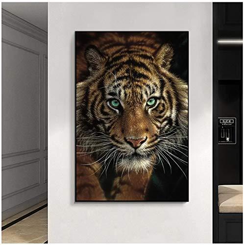 Tigres salvajes africanos Animales Pintura en lienzo en la pared Carteles e impresiones Arte de la pared Cuadros decorativos para sala de estar Cuadros 40x60cm (16x24in)
