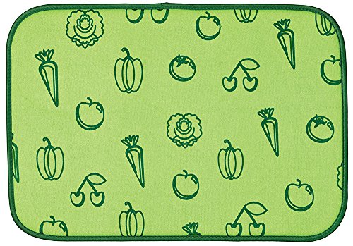 Envision Home 423800 Microfiber Fruit and Veggie Drying Mat, 12 by 18-Inch, Green