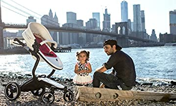 2018 Ella Baby Luxury All-in-1 high Landscape All-Terrain Egg Shell Infant Baby Stroller Travel System Toddler Pushchair Baby pram with Carriage Bassinet Combo
