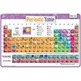 merka Kids Placemats Educational Placemat Non Slip Reusable Plastic Periodic Table Elements Chemistry Science Poster Learning Toys for Toddlers and Kids