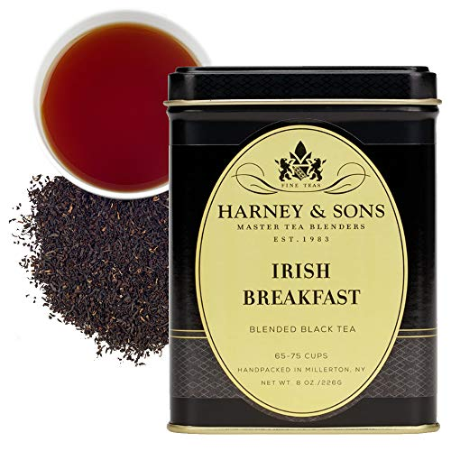 Harney & Sons Irish Breakfast Tea, 100% Assam Loose Leaf Black Tea,  8 oz tin
