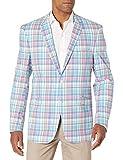 U.S. Polo Assn. Men's Cotton Sport Coat, TIM8994J Blue Tartan, 46 Regular