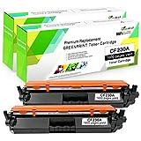 2 Negro Compatible 30A CF230A Tóner Cartucho con Chip GREENPRINT 1,600 Páginas para HP Laserjet Pro M203d M203dn M203dw, MFP M227fdn M227fdw M227sdn M227d Impresora
