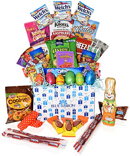 Easter Care Package - Filled with Candy, Egg Chocolates, Cookies and More.Perfect for Kids, Girls, Boys, College Students - Great Easter Gift Basket