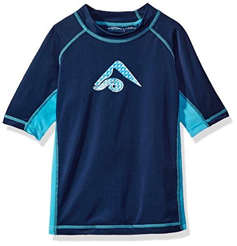 Kanu Surf Boys' Toddler Haywire UPF 50+ Sun Protective Rashguard Swim Shirt, Flex Navy, 3T