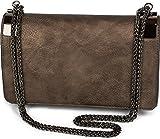 styleBREAKER clutch, borsetta da sera con fermagli metallici e catena scorrevole, design vintage, donna 02012046, colore:Bronzo antico