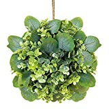 Artificial Boxwood Topiary Ball Plants 9 Inch Faux Topiary Hanging Plant for Home Indoor Outdoor...