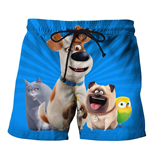 The Secret Life of Pets Backpack Beach Shorts Athletic Shorts Shorts Casual Home Wear Casual Surf Beach Shorts Quick Dry Airy Short Lightweight Sports Shorts Men Workout Leisure Shorts Unisex