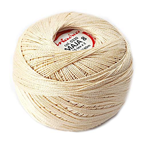 Pearl Crochet Cotton Embroidery Ball Yarn 229yd/210m Quality Thread 50g...