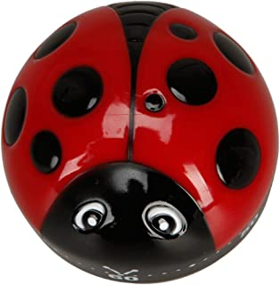 Cooking Timer - Plastic Ladybug Shape 60 Minute Cook Cooking Timer - American Sound Kitchen Magnet Mechanical By Loud Alarm Harbor Cat