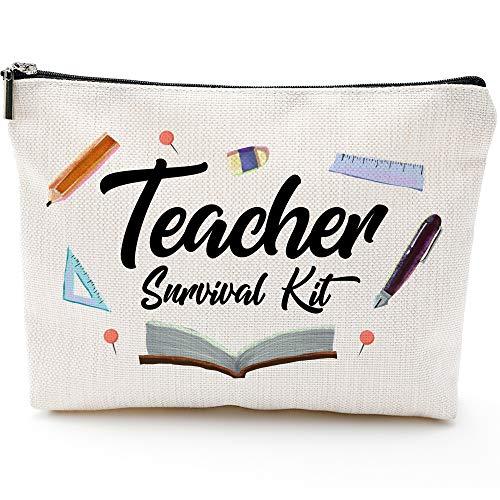 Best Teacher Gift, Teacher Appreciation Gift, Teacher Makeup Bag, Teacher Pencil Pouch, Teacher Gifts For Women, Preschool,Elementary,Waterproof Cosmetic Bag, High School makeup bags