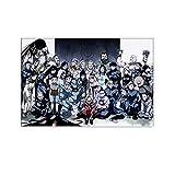 Póster de Alquimista de Armadura de Acero Anime y Arte de la Pared Impresión Moderna de la Decoración del Dormitorio Familiar Posters 30 x 45 cm