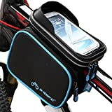 INBIKE Top Tube Bag, Waterproof Bicycle Front Frame Pannier Bag with Touch Screen Phone Case 5.7'