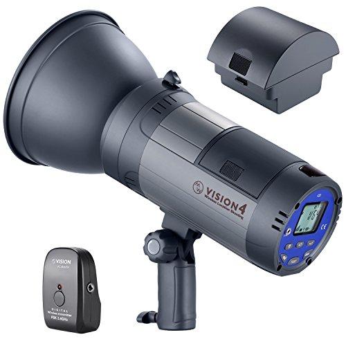 Neewer Vision 4 Flash Estroboscópico Estudio 300W Li-Ion Alimentado por Batería (700 Flashes a Plena Potencia) con Sistema 2,4G (Disparador Incluido) 2 Paquetes Batería Ion-Litio