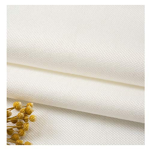 yankai Stof linnen katoen en linnen stof kleur effen kleuren handwerk knutselen stof grof canvas linnen tafelkleed hoofdkussen breedte 1,5 m NIU