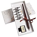 Hethrone Calligraphy Pen Set - Fountain Dip Pen and Ink Writing Pen with 11 Nibs and Black Ink...