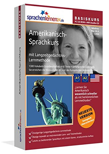 Sprachenlernen24.de Amerikanisch-Basis-Sprachkurs: PC CD-ROM für Windows/Linux/Mac OS X + MP3-Audio-CD für MP3-Player. Amerikanisch lernen für Anfänger
