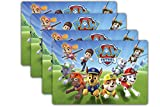 Pa_w Patrol Placemats for Kids Placemats, Set of 4pcs Plastic Waterproof Heat Insulation Placemats Table Place Mats for Room Kitchen Dining Table Decor