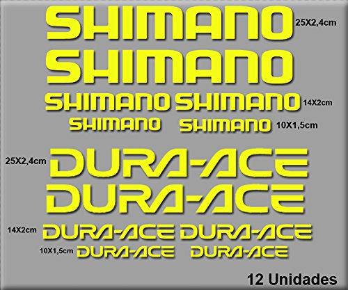Ecoshirt RO-YU6X-KNX0 sticker Shimano R49 vinyl sticker Decal Sticker MTB Bike Geel