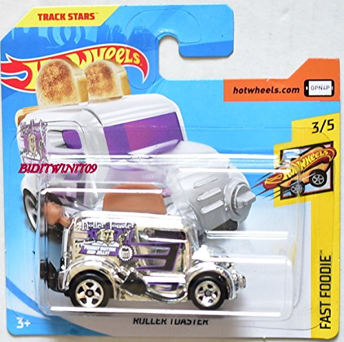 Hot Wheels 2018 Roller Toaster Chrome 3/5 Fast Foodie 69/365 (Short Card)