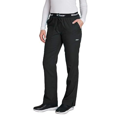 479adca8444 Grey's Anatomy Active 4275 Women's Modern Fit 3-Pocket Logo Waistband  Drawstring Scrub Pants