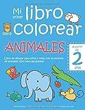 Mi primer libro para colorear ANIMALES — A partir de 2 años — Libro de dibujar para niños y niñas con 50 motivos de animales, libro para garabatear: ... de dibujo para niño y niña (Spanish Edition)