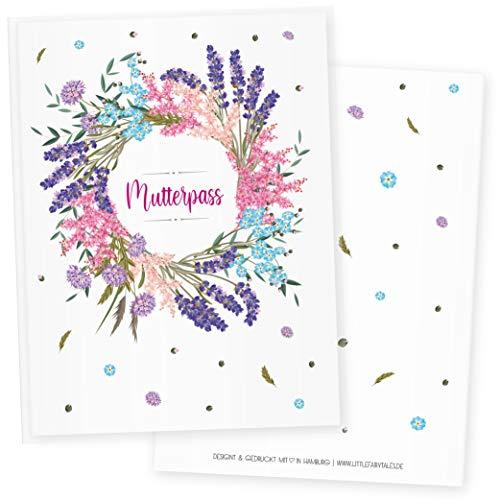 Funda para cartilla de embarazo, 3 piezas, diseño de flores primaverales, ideal como regalo para fiestas de bebé Spring Flowers 3 Talla:Mutterpass DE