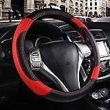 Leather Car Steering Wheel Cover, Non-Slip Car Wheel Cover...