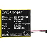 CS-OTP470SL Batería 2500mAh Compatible con [ALCATEL] One Touch Pixi 4 7.0, One Touch Pixi 4 7.0 3G, One Touch Pixi 4 7.0 4G, OT-8063, OT-9003A, OT-9003X sustituye TLp025GC