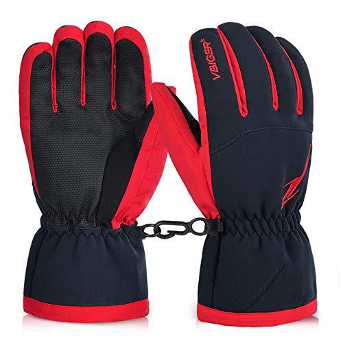 Unisex winterwarme handschoenen met volledige vingers, dikke handschoenen, snowboard, waterdichte sporthandschoenen, voor skiën rodelen, fietsen in herenhandschoenen van kledingtoebehoren
