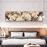 Poster e stampe di rose classiche Pittura a olio su tela Cuadros Decorazioni per San Valentino Immagine da parete nordica per soggiorno 60x180 CM (sans cadre)