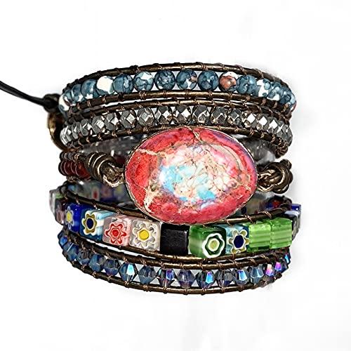 WLLLTY Ladies Bracelet Sunflower Bracelet Multi-Layer Winding Bracelet Ladies Bracelet Gift